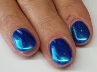 Gelnagels blauwe chrome