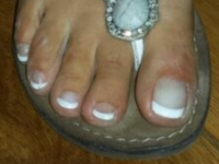 Teennagels French Manicure Romeinse Sandalen