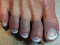 Teennagels French Manicure wit